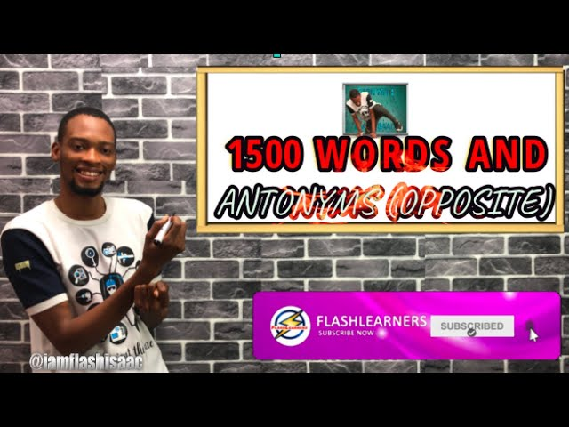 1500 Words And Antonyms For Waec And Jamb English