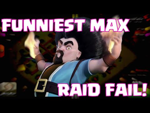 Clash Of Clans MAXED TROOPS FAIL   Funniest Townhall 10 Troll Defense VS Maxed Out Army
