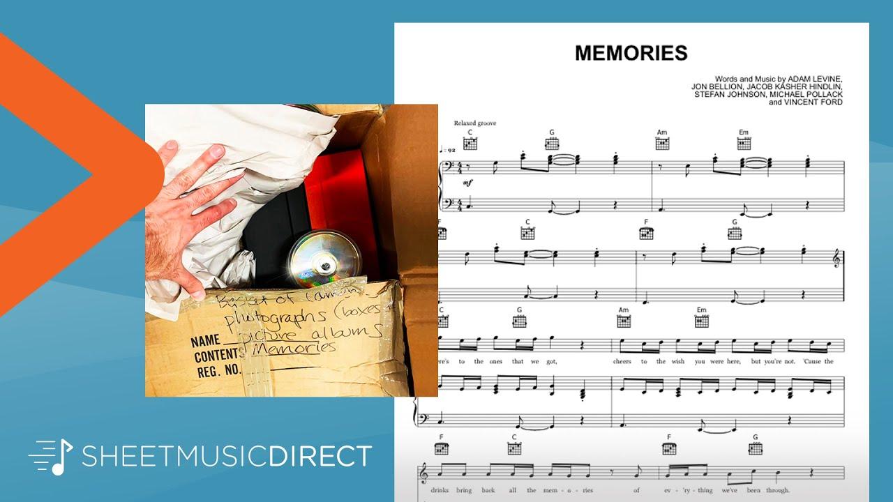 Memories Sheet Music Maroon 5 Piano Vocal Guitar Youtube