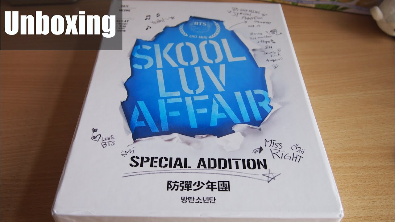 [UNBOXING] BTS Skool Luv Affair REPACKAGE Special/Limited Edition - YouTube
