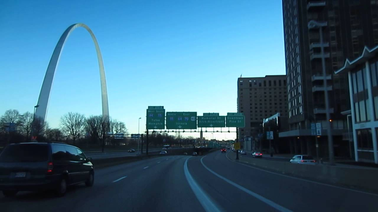 3k In Miles >> Driving in USA - St. Louis Missouri - Downtown and The Arch - YouTube