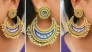 Chandbali Earring | How to make Paper Earrings | made out of paper | Art with Creativity