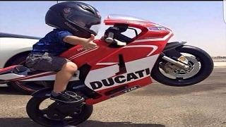 Talented Kid Rider On Motorcycle perform Crazy Stunt Wheelies & Drift Wins&Fails Compilation