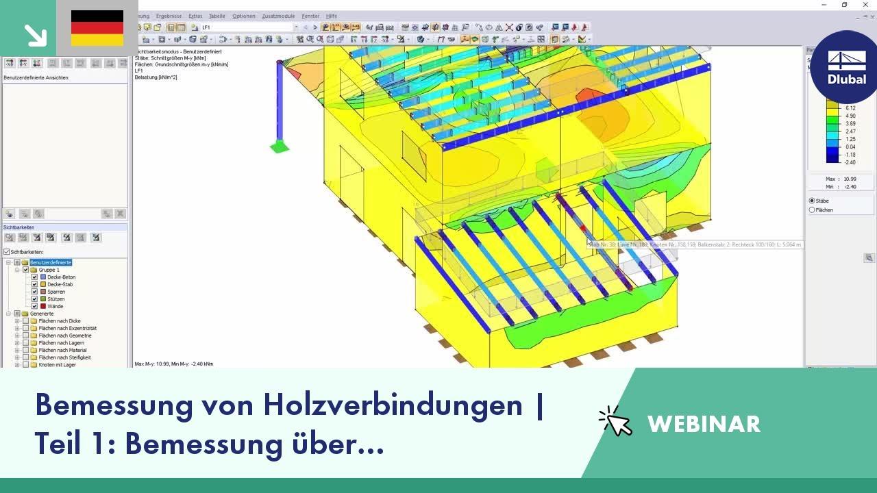 Dlubal-Webinar: Bemessung von Holzverbindungen | Teil 1: Bemessung über  Grenztragfähigkeiten