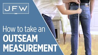 Outseam Measurement for Tuxedo and Suit Rentals