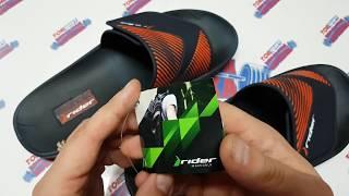 обувь на лето 2018. шлепанцы какие лучше купить 2018. мега сланцы rider распаковка и обзор #Шлёпки