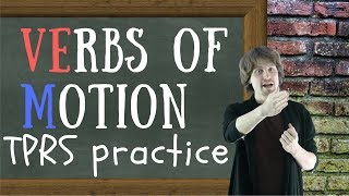 Russian Verbs Of Motion Exercises | TPRS Lesson with PDF