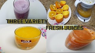 THREE EASY AND QUICK FRESH JUICES / THREE VARIETY FRESH JUICE