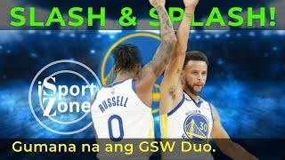 D'Angelo Russell at Steph, GUMAGANDA ang CHEMISTRY. 61 POINTS!