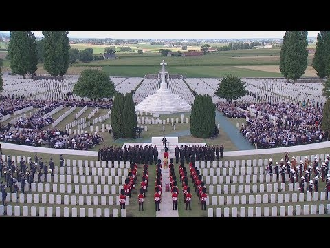 The remembrance ceremony at Tyne Cot Cemetery, Belgium on 31