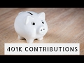 How much should you contribute to your 401K?