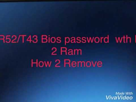 IBM thinkpad Bios Password Remove
