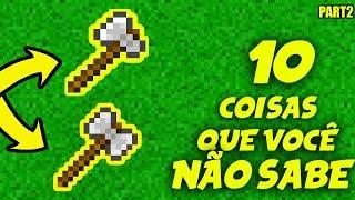 10 EASTER EGGS E COMANDOS SEGREDOS DO MINECRAFT QUE VOCE NÃO SABE    Part 2