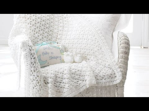 How To Crochet A Baby Blanket Christening Vintage Afghan Youtube