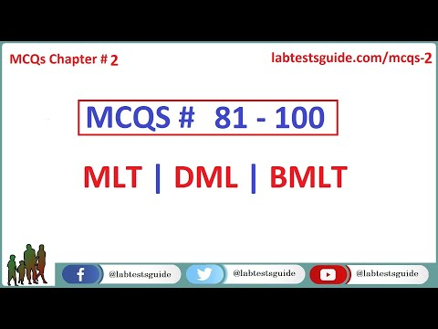MCQ's For Laboratory Tescnicians and Technologists   81 to 100 Questions