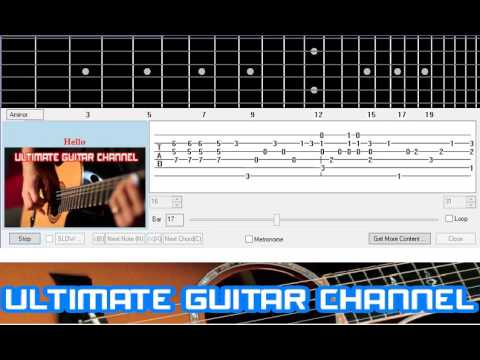 Guitar Solo Tab Hello Lionel Richie Youtube