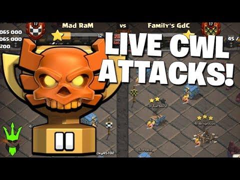 LIVE CWL ATTACKS!!!   !member
