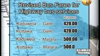 Southern Expressway Bus Fares Reduced