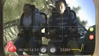 Я со Стасом на бочке в парке развлечений Порт Авентура