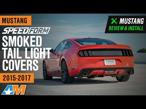 2015-2017 Mustang SpeedForm Smoked Tail Light Covers Review & Install