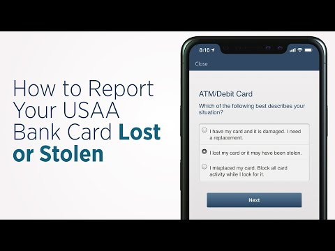 How To Report A Lost Or Stolen Card | USAA Bank