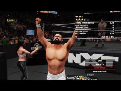 WWE 2K18: Johnny Gargano vs. Andrade Cien Almas with Zelina Vega