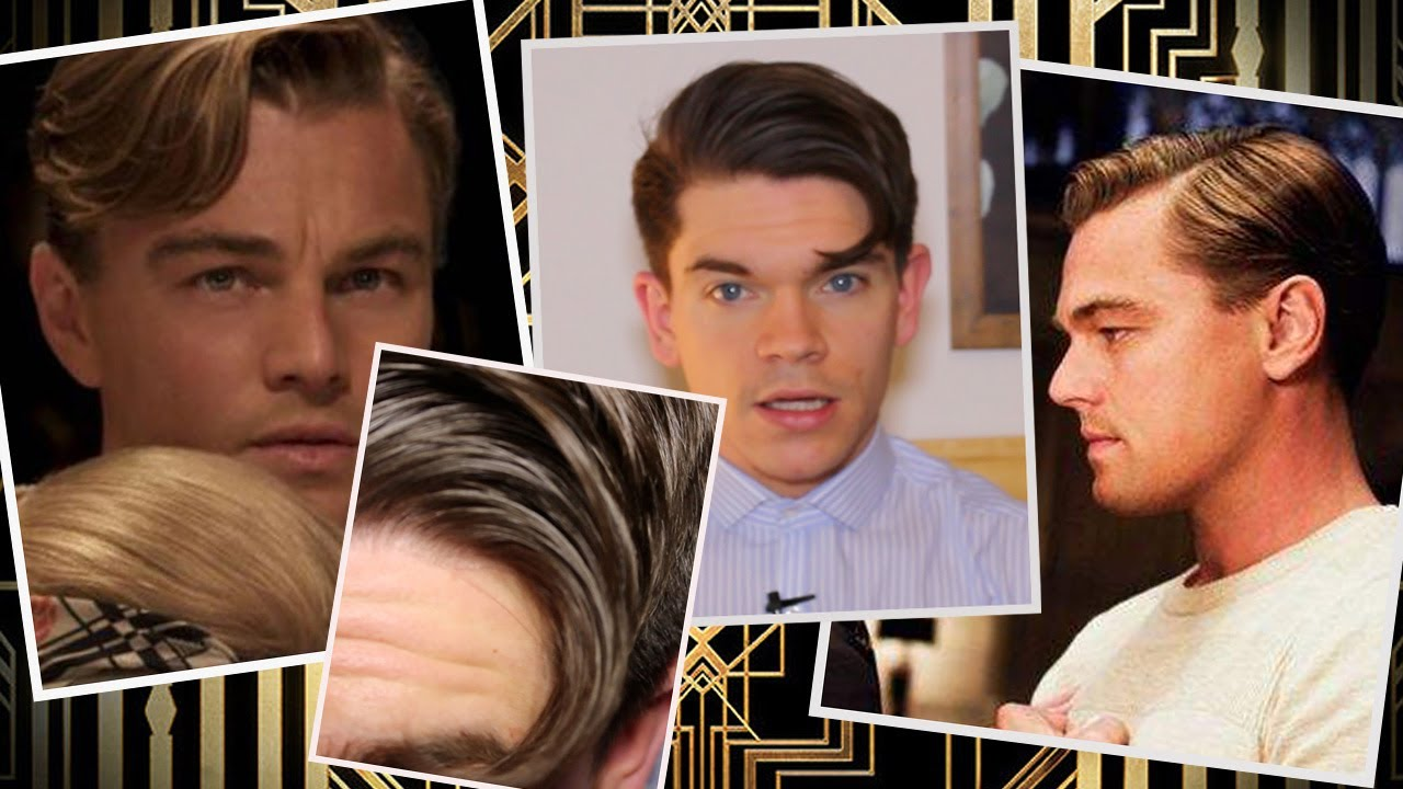 leonardo dicaprio | the great gatsby | hair how to - youtube