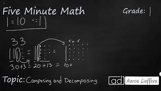1st Grade Math Composing and Decomposing
