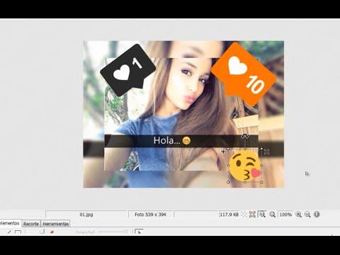 Como poner emojis caritas y tags en las fotos y editarlas for Cuadros para poner fotos