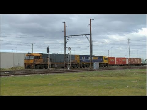 Freight Train in Melbourne - Pacific National