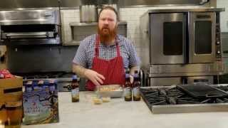 Cooking with Angry Orchard: Pork and Apple Sausage with Cider Grilled Onions and Spicy Cider Mustard