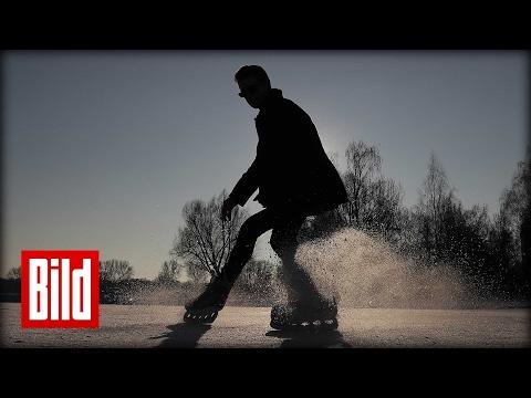 Schlittschuh-Breakdance - Freestyle-Ice-Skating