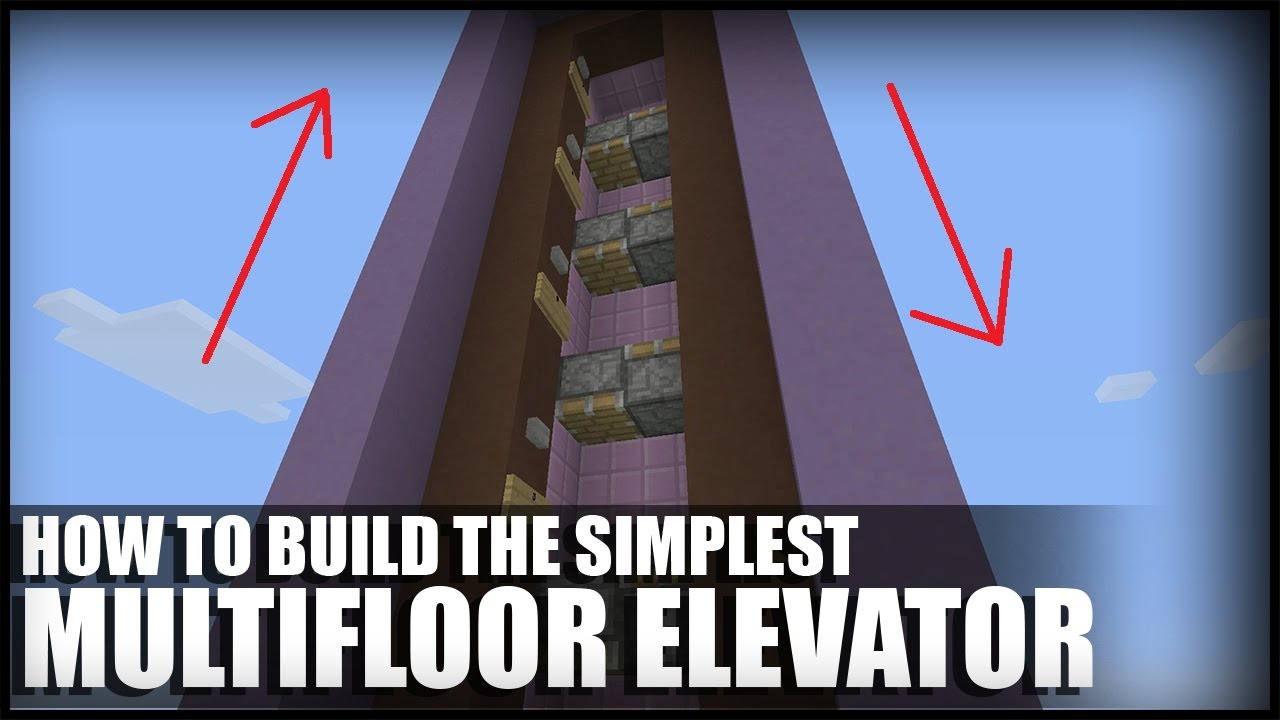 Building Built With No Elevator : How to build a simple multifloor elevator in minecraft
