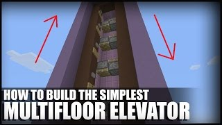 How To Build A Simple Multifloor Elevator in Minecraft (TU46 CU36)