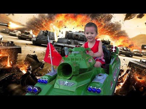 Танки Игры для мальчиков Обзор игрушки Большой Танк Машинки катаемся Видео для детей  World of Tanks