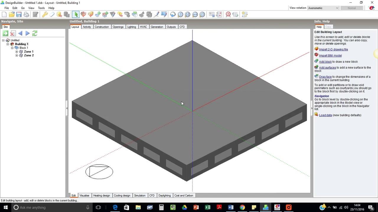 Design builder tutorial design builders