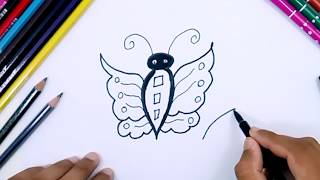 How To Draw Butterfly Youtube Videos For Kids Learning things to draw for kids step by step drawing