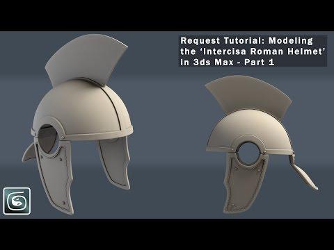 3dsMax Modeling 'Intercisa Roman Helmet' Tutorial Part 1(Request)