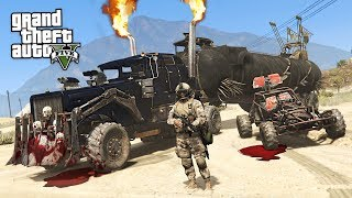 GTA 5 Zombie Apocalypse Mod #21 - ZOMBIE BATTLE TRUCK!! (GTA 5 Mods)