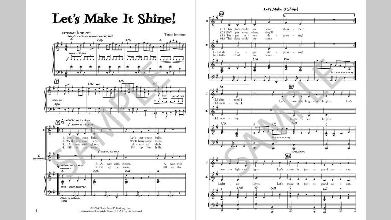 Let S Make It Shine Musick8 Com Singles Reproducible Kit Youtube