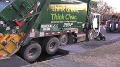 Garbage truck falls in sink hole  | Allentown, PA 02/21/17