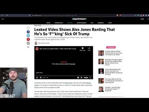 Leaked Video Of Alex Jones Shows Him Saying He's SICK of Trump And Wishes he Never Met Him