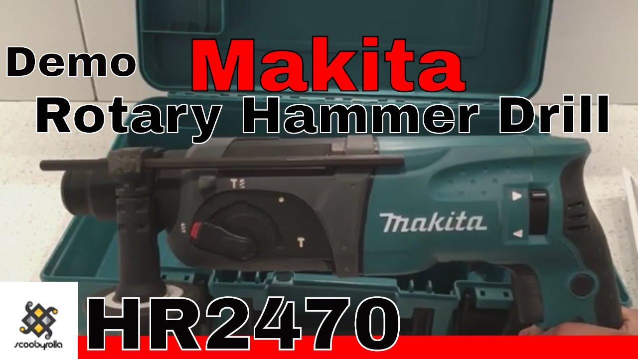 Makita Rotary Hammer Drill Hr2470 Amp Demo Youtube