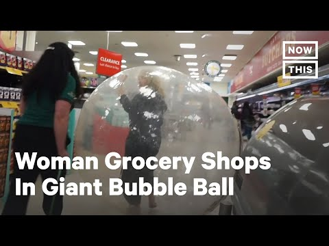 Woman Goes To Extreme Measures To Social Distance At The Grocery Store