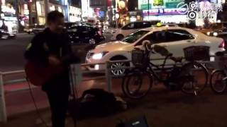 东京街头日语版《海阔天空》   网易新闻视频
