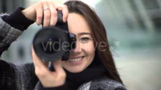 Beautiful Young Female Photographer 4k