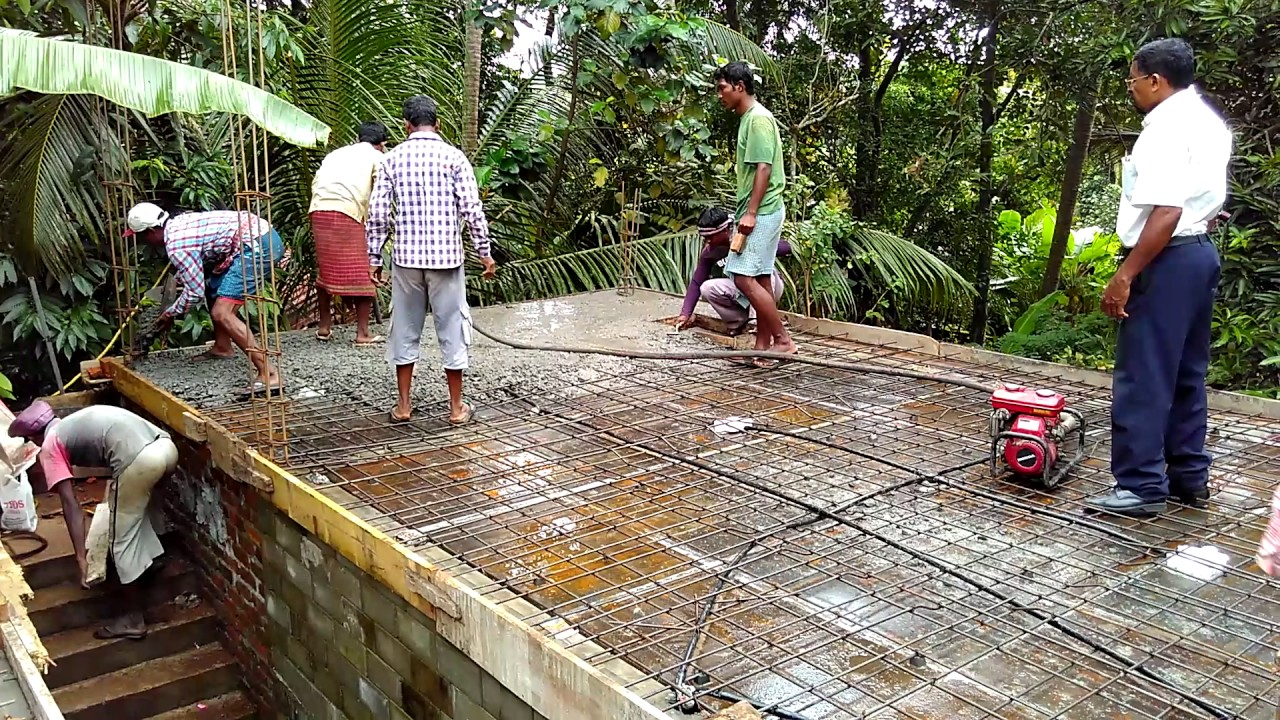 Rcc Roof Slab Concrete Pouring Process Youtube