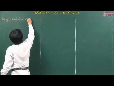 Bài giảng môn Toán lớp 10 - Bậc nhất - bậc hai - Hàm số y = ax + b - Cadasa.vn