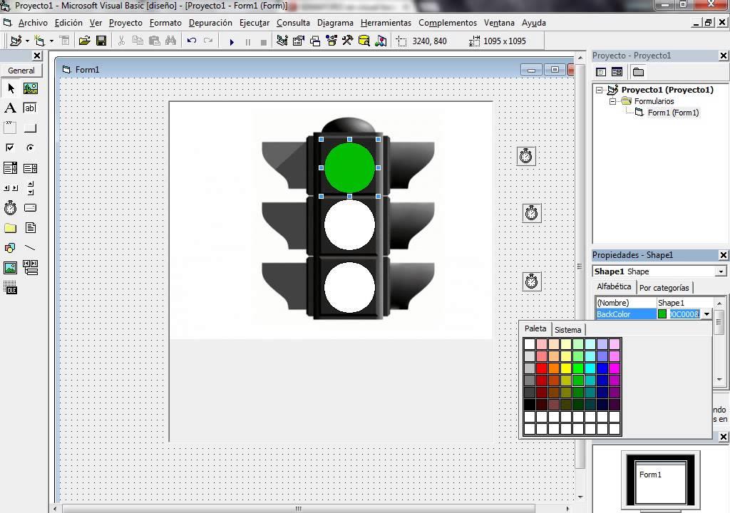 Como Hacer Un Semaforo En Visual Basic 6 0