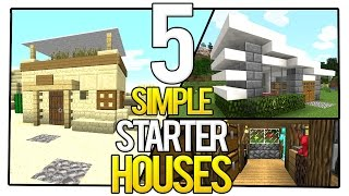 5 Simple Starter Houses in Minecraft